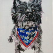 Cairn Terrier. Sam James Fine Art