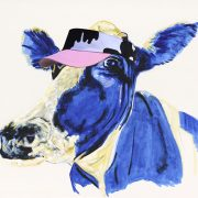 cow with visor