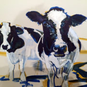 Pete's Cows 50x60cm. Sam James Fine Art