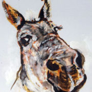 Swinford the mule - Private Commission 25x30cm. Sam James Fine Art
