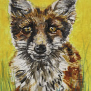 Fox Cub 25x30cm. Sam James Fine Art