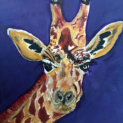 Curious Giraffe 40x50cm. Sam James Fine Art