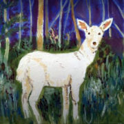 Seneca White Deer - Private Commission 25x30cm. Sam James Fine Art