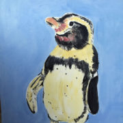 Little Penguin 40x50cm. Sam James Fine Art