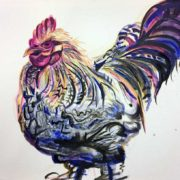 Jenny's Cockerel. 40x50cm. Sam James Fine Art