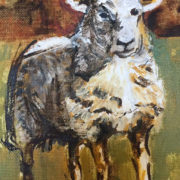 Jenny Sheep - Private Commission 25x30cm. Sam James Fine Art