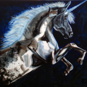 Twilight Unicorn. Sam James Fine Art
