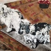 Spaniels - Private Commission 40x50cm. Sam James Fine Art