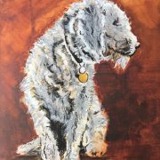 Paws for thought. 30x40cm. Sam James Fine Art.