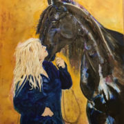 Sara and her Friesian
